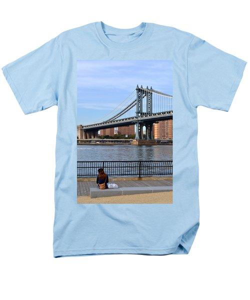 Men's T-Shirt  (Regular Fit) featuring the photograph Manhattan Bridge2 by Zawhaus Photography