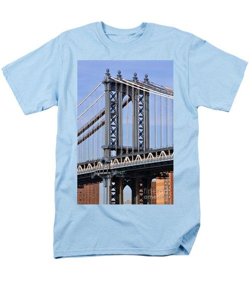 Men's T-Shirt  (Regular Fit) featuring the photograph Manhattan Bridge3 by Zawhaus Photography