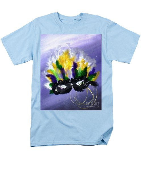 Men's T-Shirt  (Regular Fit) featuring the painting Masque Over Bourbon Street by Alys Caviness-Gober