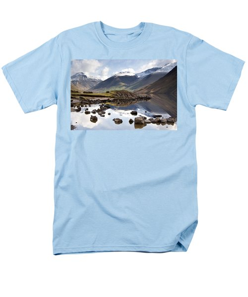 Mountains And Lake At Lake District Men's T-Shirt  (Regular Fit) by John Short