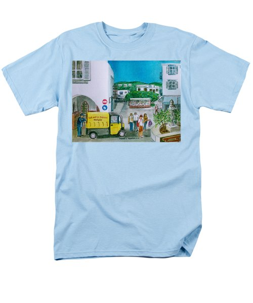 Patmos Fish Monger Men's T-Shirt  (Regular Fit) by Frank Hunter