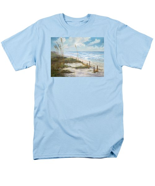 Men's T-Shirt  (Regular Fit) featuring the painting Playalinda by AnnaJo Vahle