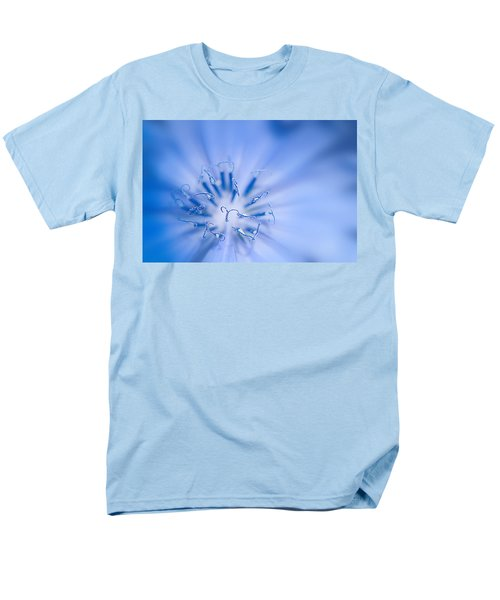 Men's T-Shirt  (Regular Fit) featuring the photograph Pollination  Blue Chicory by Randall Branham