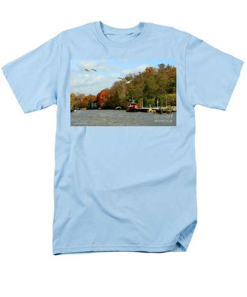 Men's T-Shirt  (Regular Fit) featuring the photograph Port Dover Harbour by Barbara McMahon