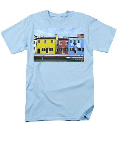 Men's T-Shirt  (Regular Fit) featuring the photograph Primary Colors In Burano Italy by Rebecca Margraf