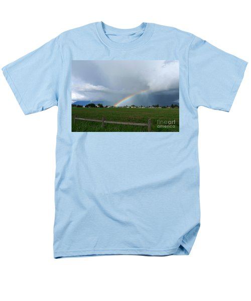 Men's T-Shirt  (Regular Fit) featuring the photograph Rainbow Before The Storm by Nina Prommer