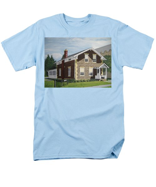 Men's T-Shirt  (Regular Fit) featuring the painting Rasey House by Norm Starks