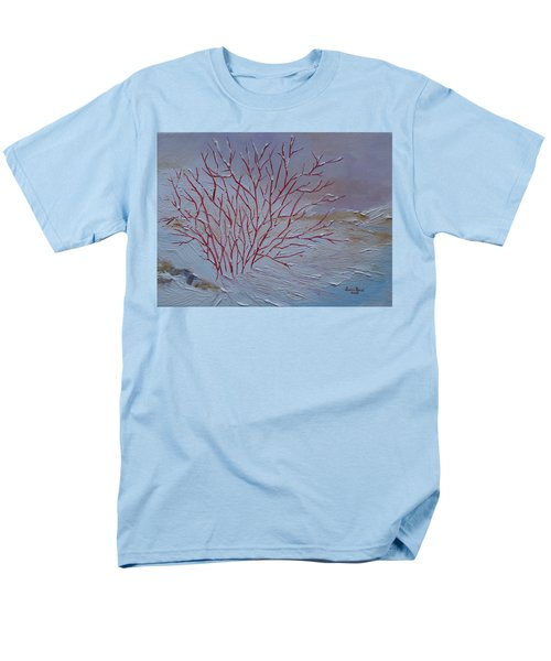 Men's T-Shirt  (Regular Fit) featuring the painting Red Branches by Judith Rhue
