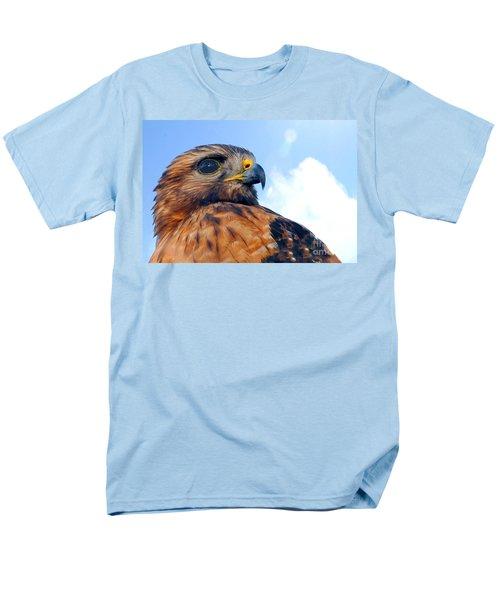 Men's T-Shirt  (Regular Fit) featuring the photograph Red Shouldered Hawk Portrait by Dan Friend
