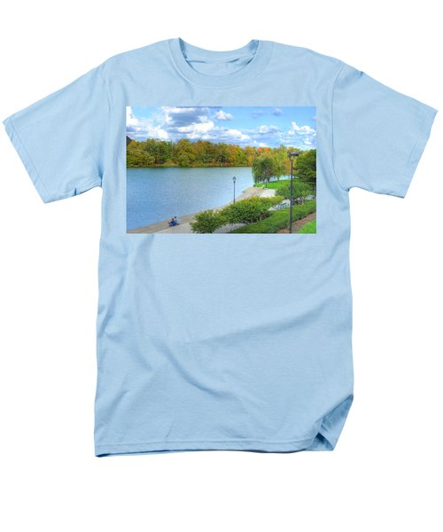 Men's T-Shirt  (Regular Fit) featuring the photograph Relaxing At Hoyt Lake by Michael Frank Jr