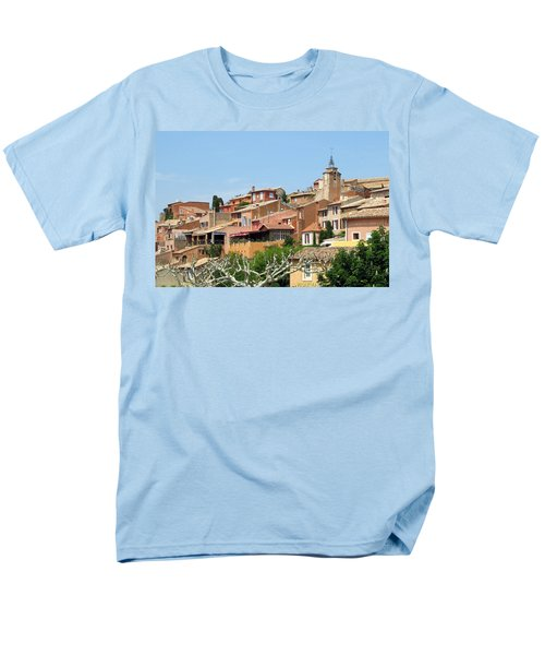 Men's T-Shirt  (Regular Fit) featuring the photograph Roussillon In Provence by Carla Parris