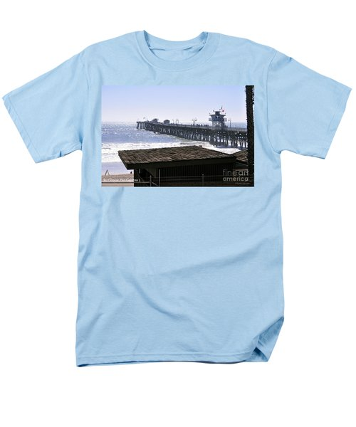 Men's T-Shirt  (Regular Fit) featuring the photograph San Clemente Pier California by Clayton Bruster
