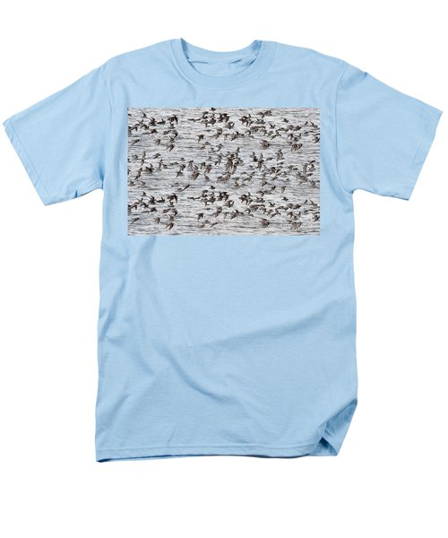 Men's T-Shirt  (Regular Fit) featuring the photograph Sandpipers In Flight by Dan Friend
