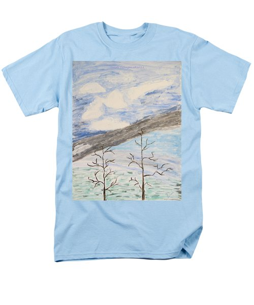 Men's T-Shirt  (Regular Fit) featuring the painting Shades Of Nature by Sonali Gangane