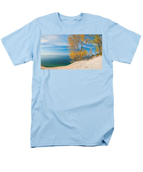 Sleeping Bear Dunes Vista 001 Men's T-Shirt  (Regular Fit) by Larry Carr