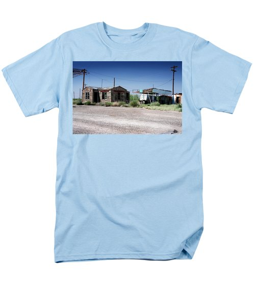 Men's T-Shirt  (Regular Fit) featuring the photograph Somewhere On The Old Pecos Highway Number 8 by Lon Casler Bixby