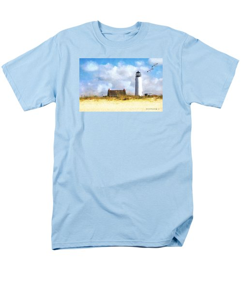 Men's T-Shirt  (Regular Fit) featuring the photograph St. George Island Lighthouse by Rhonda Strickland