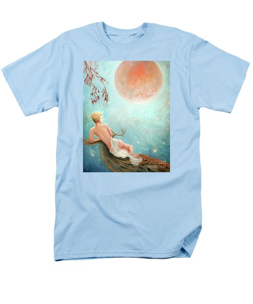 Men's T-Shirt  (Regular Fit) featuring the painting Strawberry Moon Nymph by Michael Rock