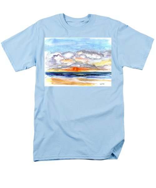Men's T-Shirt  (Regular Fit) featuring the painting Sunset Clouds by Clara Sue Beym