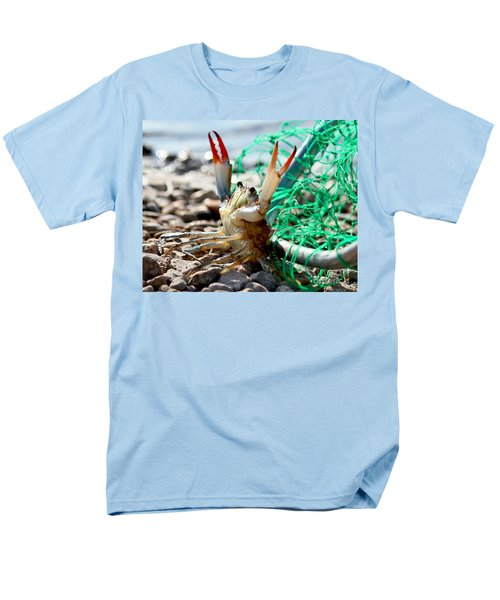 Men's T-Shirt  (Regular Fit) featuring the photograph Crab Throw Me Something Mister by Luana K Perez