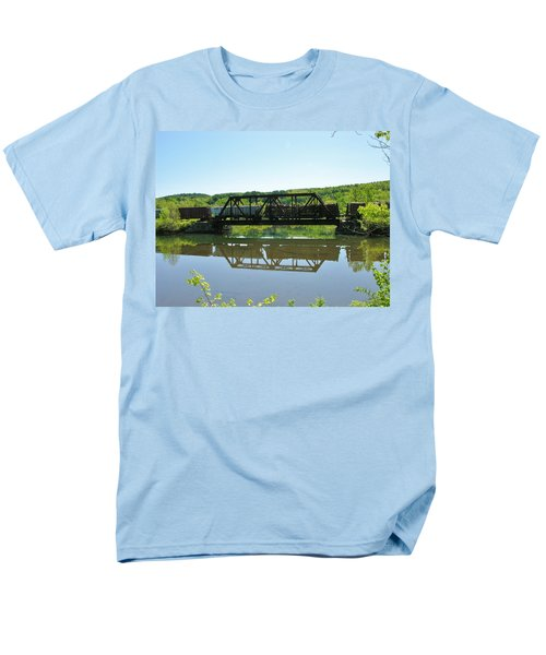 Men's T-Shirt  (Regular Fit) featuring the photograph Train And Trestle by Sherman Perry