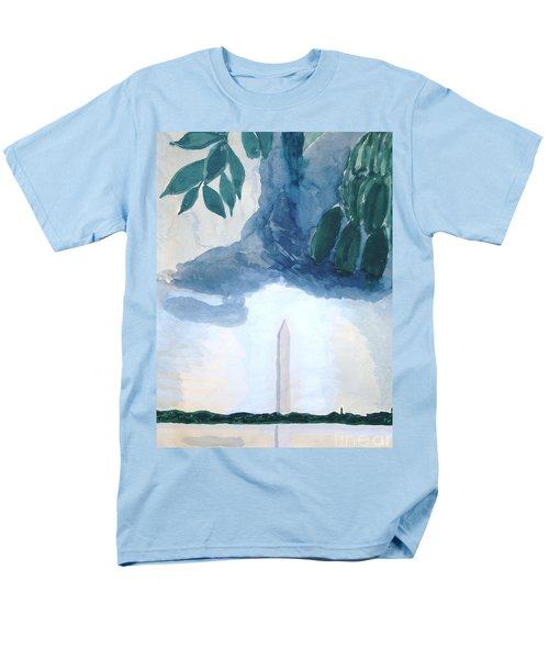 Men's T-Shirt  (Regular Fit) featuring the painting Washington Monument by Rod Ismay