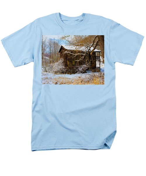 West Virginia Winter Men's T-Shirt  (Regular Fit) by Ronald Lutz