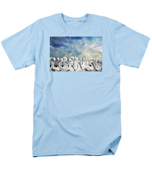 Men's T-Shirt  (Regular Fit) featuring the photograph White Pelicans In Group by Dan Friend