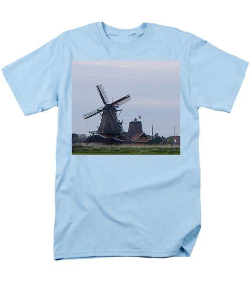 Men's T-Shirt  (Regular Fit) featuring the photograph Windmill by Manuela Constantin