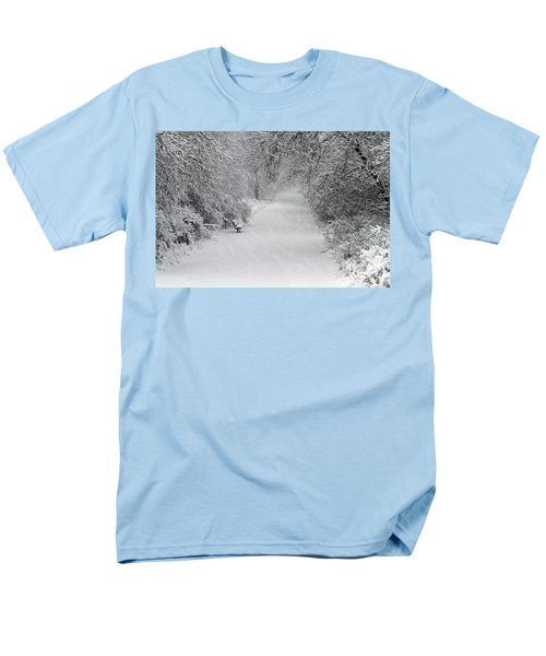Men's T-Shirt  (Regular Fit) featuring the photograph Winter's Trail by Elizabeth Winter