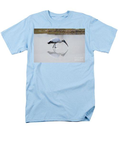 Men's T-Shirt  (Regular Fit) featuring the photograph Wood Stork Eating by Dan Friend