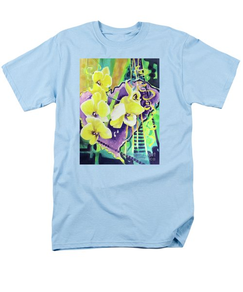 Yellow Orchids Of The Heart Men's T-Shirt  (Regular Fit) by Kathy Braud