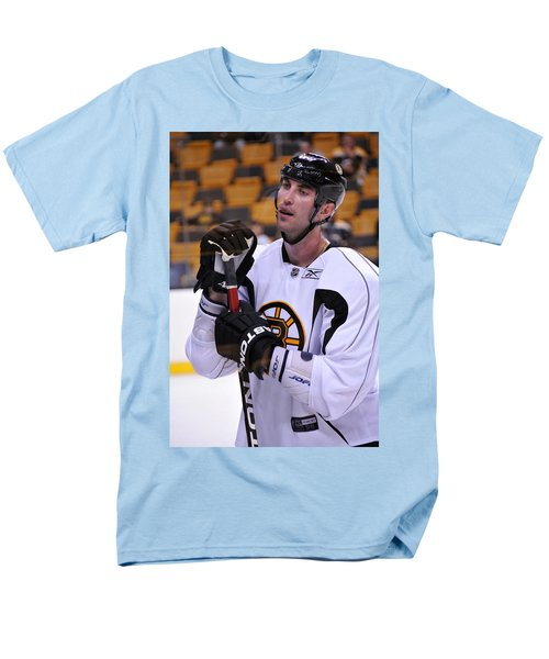 Men's T-Shirt  (Regular Fit) featuring the photograph Zdeno Chara Takes A Break by Mike Martin