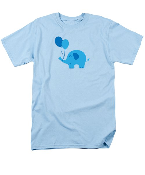 Sweet Funny Baby Elephant With Balloons Men's T-Shirt  (Regular Fit) by Philipp Rietz