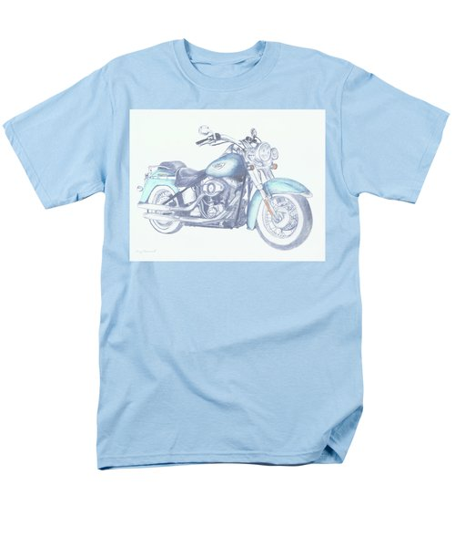 Men's T-Shirt  (Regular Fit) featuring the drawing 2015 Softail by Terry Frederick