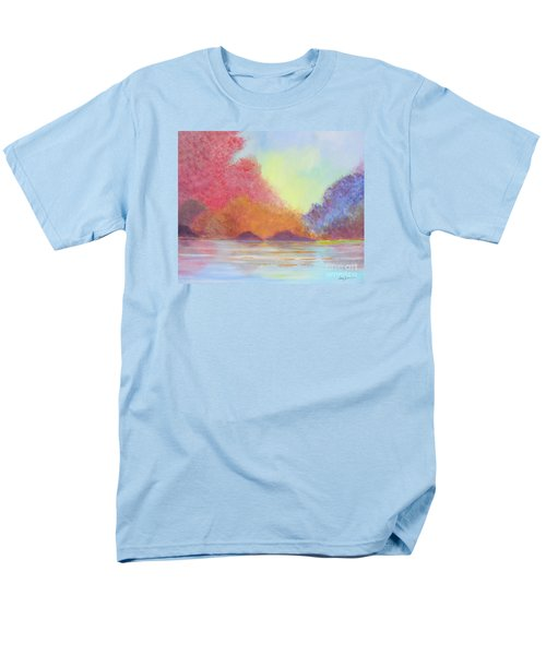 Men's T-Shirt  (Regular Fit) featuring the painting Autumn's Aura by Stacey Zimmerman