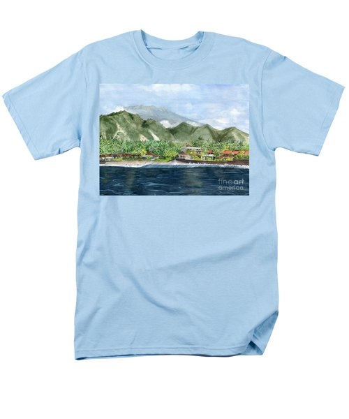 Men's T-Shirt  (Regular Fit) featuring the painting Blue Lagoon Bali Indonesia by Melly Terpening
