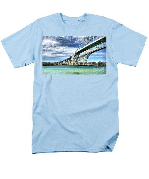 Blue Water Bridge Men's T-Shirt  (Regular Fit) by Joe  Ng