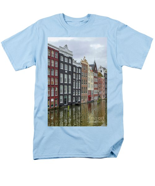 Canal Houses In Amsterdam Men's T-Shirt  (Regular Fit) by Patricia Hofmeester