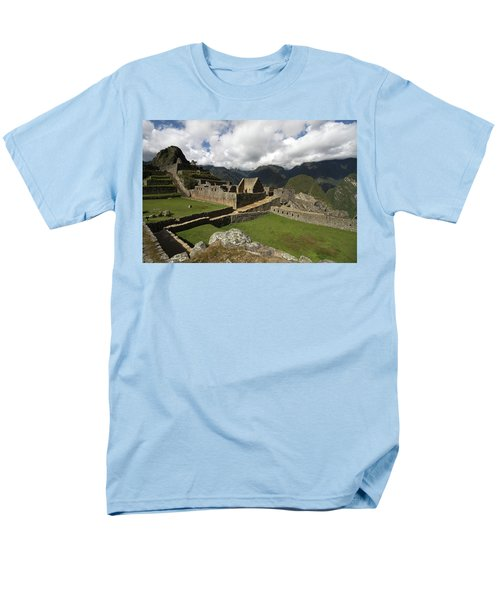 Central Plaza At Machu Picchu Men's T-Shirt  (Regular Fit) by Aidan Moran