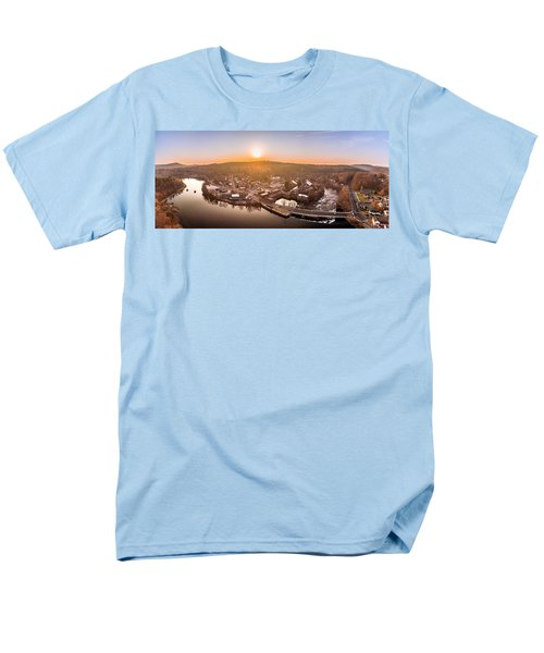 Colinsville, Connecticut Sunrise Panorama Men's T-Shirt  (Regular Fit) by Petr Hejl