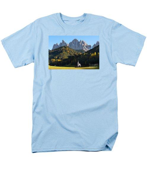 Dolomites Mountain Church Men's T-Shirt  (Regular Fit)