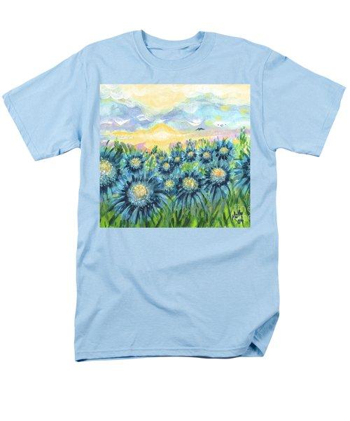 Field Of Blue Flowers Men's T-Shirt  (Regular Fit)