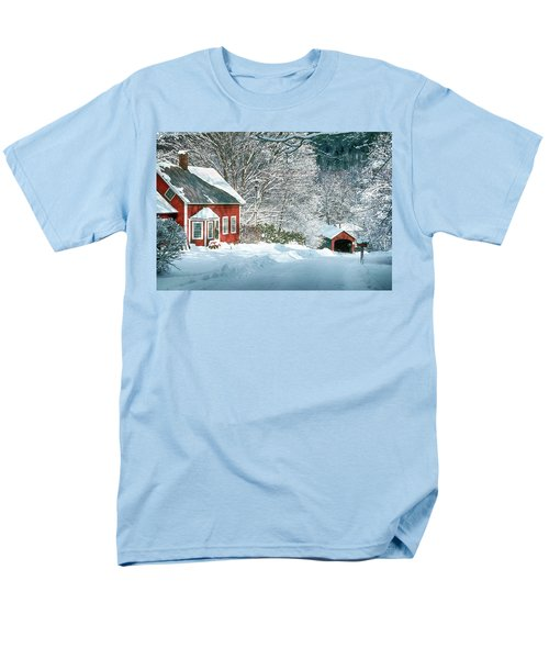 Men's T-Shirt  (Regular Fit) featuring the photograph Green River Bridge In Snow by Paul Miller