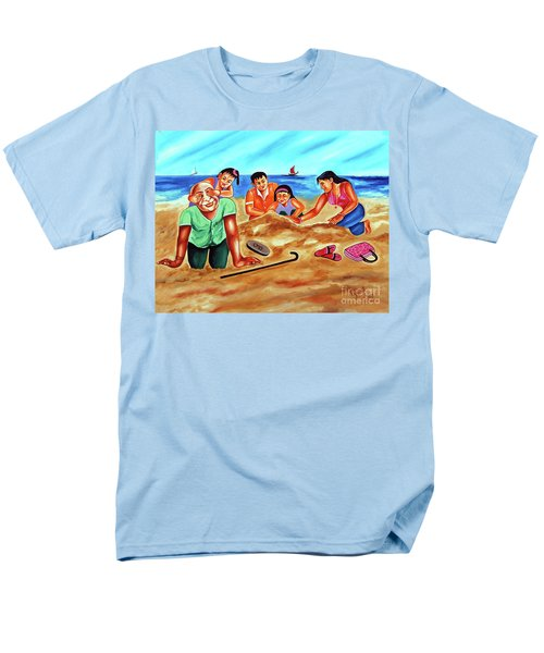 Men's T-Shirt  (Regular Fit) featuring the painting Happy Family by Ragunath Venkatraman