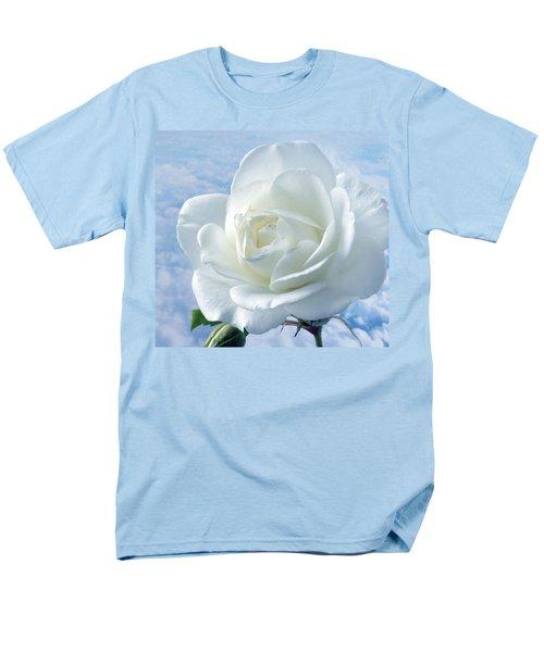 Heavenly White Rose. Men's T-Shirt  (Regular Fit) by Terence Davis