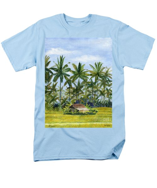 Men's T-Shirt  (Regular Fit) featuring the painting Home Bali Ubud Indonesia by Melly Terpening