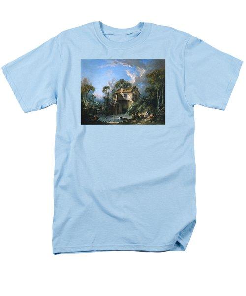 Mill At Charenton Men's T-Shirt  (Regular Fit) by Francois Boucher