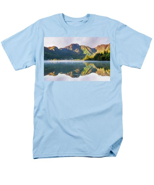 Misty Dawn Lake Men's T-Shirt  (Regular Fit) by Ian Mitchell