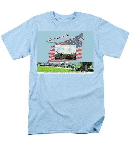 Men's T-Shirt  (Regular Fit) featuring the digital art Our Memorial Day Salute by Daniel Hebard